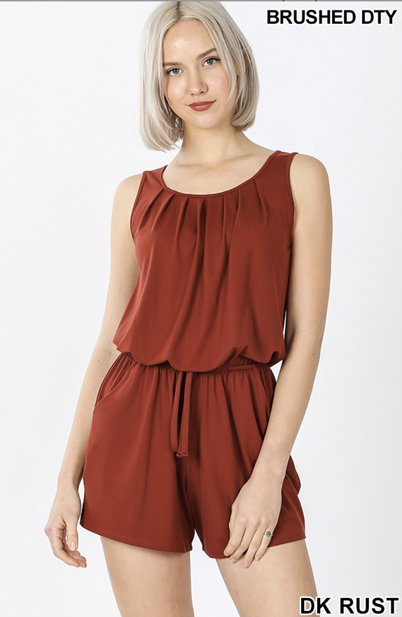 Laid Back Romper (Rust)
