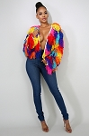 Furry Frenzy Jacket (Rainbow)