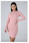 Clutched Pearls Dress (Pink)