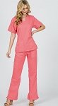 Scrub Uniform  (Coral)