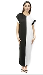 Color Block Maxi Dress (Black)
