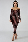 Striped Curves Bodycon