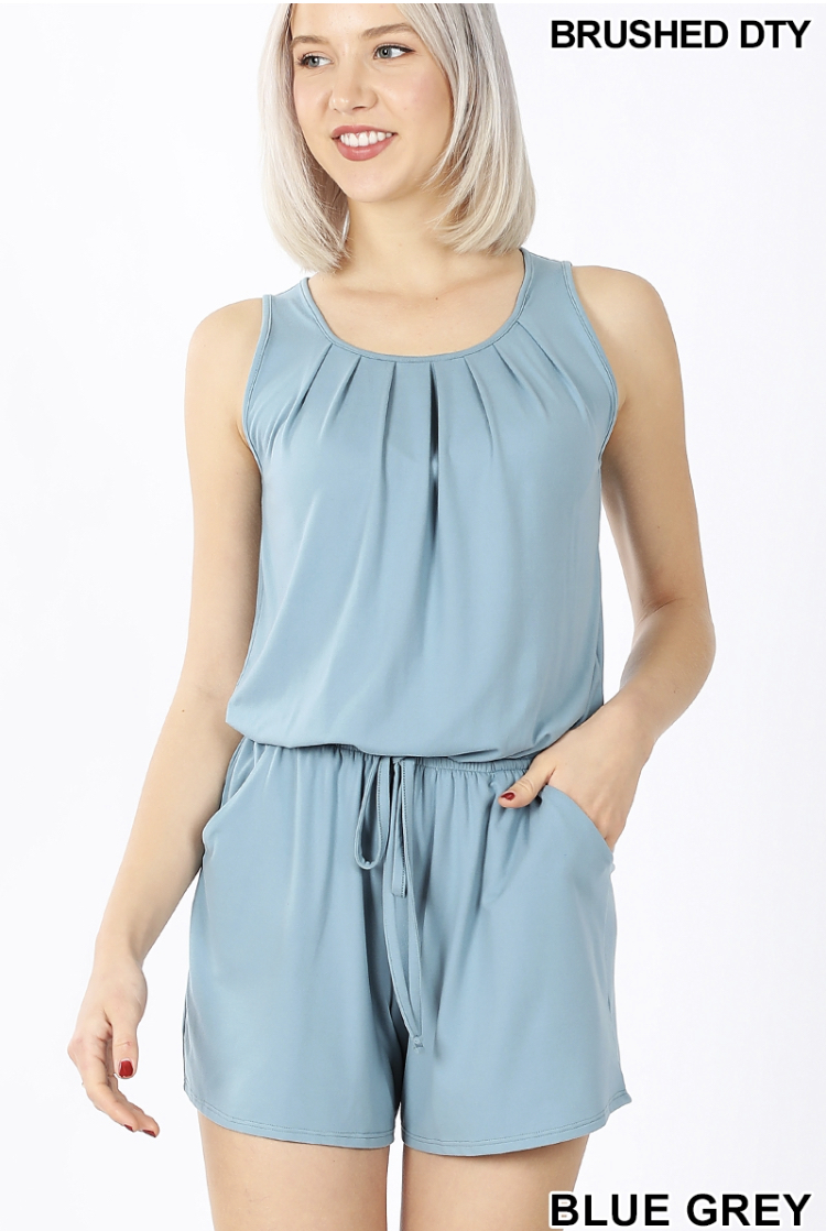 Laid Back Romper ( Blue)