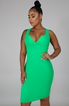 Daily Tank Dress  (Green)
