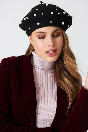 Pearl Cashmere Beret